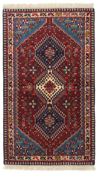 Yalameh Matto 82X140 Itämainen Käsinsolmittu Tummanpunainen (Villa, Persia/Iran)