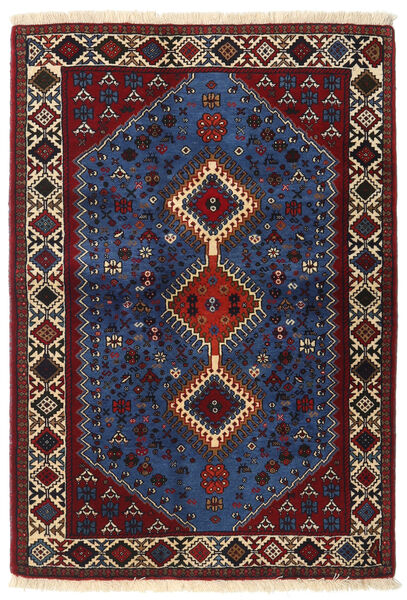 Yalameh Matto 107X152 Itämainen Käsinsolmittu Tummanpunainen/Tummanruskea/Tummansininen (Villa, Persia/Iran)