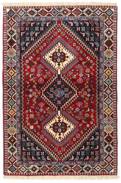 Yalameh Matto 103X151 Itämainen Käsinsolmittu Tummanpunainen/Musta (Villa, Persia/Iran)