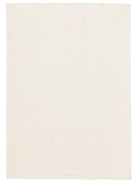 Kilim Loom - Kość Słoniowa Dywan 250X350 Nowoczesny Tkany Ręcznie Beżowy/Biały/Creme Duży (Wełna, Indie)