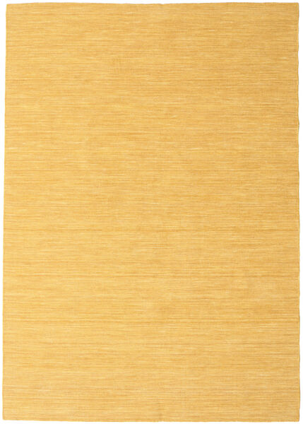 Kilim Loom - Yellow Rug 160X230 Authentic  Modern Handwoven Light Brown/Yellow (Wool, India)