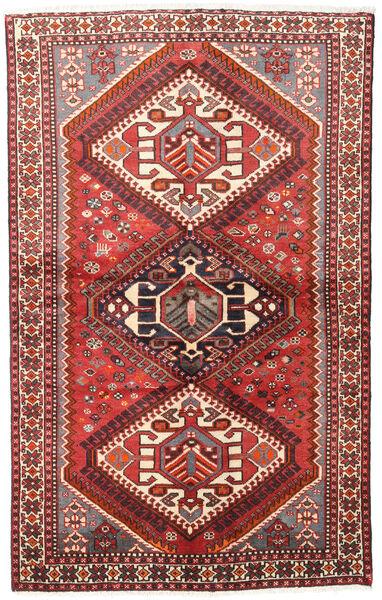 Hamadan Matto 127X201 Itämainen Käsinsolmittu Tummanpunainen/Beige (Villa, Persia/Iran)