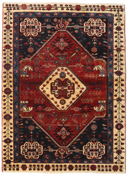 Ghashghai Matto 108X148 Itämainen Käsinsolmittu Tummanpunainen/Musta (Villa, Persia/Iran)