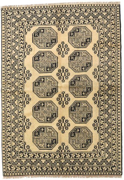 Afghan Rug 165X237 Authentic  Oriental Handknotted Dark Grey/Dark Beige (Wool, Afghanistan)