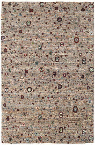 Gabbeh Loribaft Rug 169X242 Authentic  Modern Handknotted Light Grey/Dark Brown (Wool, India)