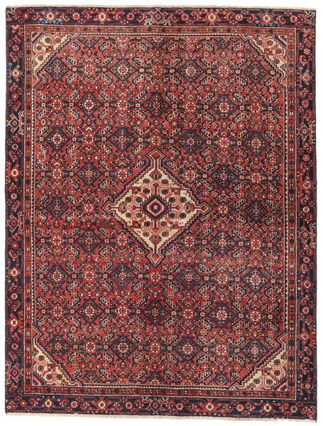 Hamadan Patina Matto 147X195 Itämainen Käsinsolmittu Tummanpunainen/Tummanruskea (Villa, Persia/Iran)