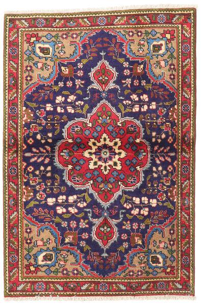 Tabriz Rug 100X145 Authentic  Oriental Handknotted Dark Red/Dark Purple (Wool, Persia/Iran)