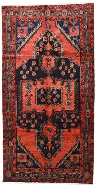 Lori Matta 155X300 Äkta Orientalisk Handknuten Hallmatta Mörkröd/Mörkbrun (Ull, Persien/Iran)