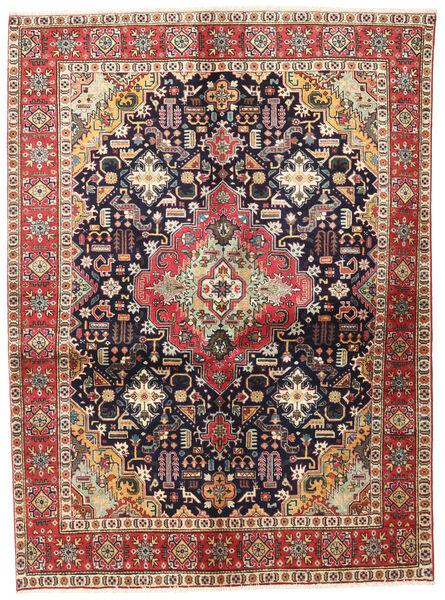Tabriz Rug 137X187 Authentic  Oriental Handknotted Dark Red/Dark Brown (Wool, Persia/Iran)