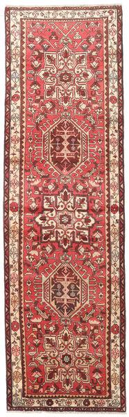 Heriz Rug 100X350 Authentic  Oriental Handknotted Hallway Runner  Dark Red/Beige (Wool, Persia/Iran)
