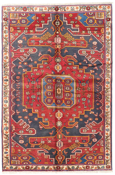 Bakhtiari Rug 135X205 Authentic  Oriental Handknotted Dark Red/Rust Red (Wool, Persia/Iran)