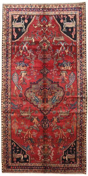 Lori Rug 158X310 Authentic  Oriental Handknotted Hallway Runner  Dark Red/Dark Brown (Wool, Persia/Iran)
