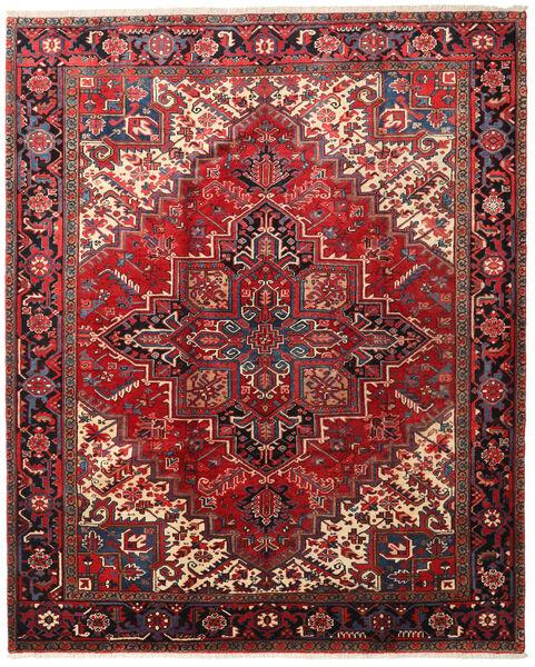 Heriz Rug 226X279 Authentic  Oriental Handknotted Dark Red/Dark Brown (Wool, Persia/Iran)