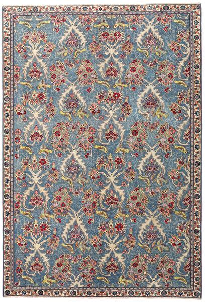ナジャファバード パティナ 絨毯 204X295 オリエンタル 手織り 薄い灰色/濃いグレー (ウール, ペルシャ/イラン)