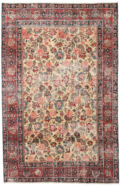 Mashad Patina Teppe 185X285 Ekte Orientalsk Håndknyttet Lysbrun/Mørk Grå (Ull, Persia/Iran)
