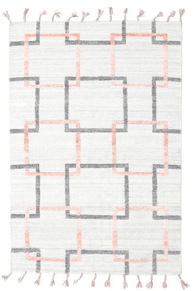Pet Yarn Kilim Dywan 157X233 Nowoczesny Tkany Ręcznie Biały/Creme/Beżowy ( Indie)
