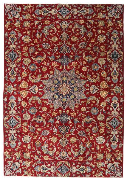 Nadżafabad Patina Dywan 220X317 Orientalny Tkany Ręcznie Ciemnoczerwony/Ciemnobrązowy (Wełna, Persja/Iran)