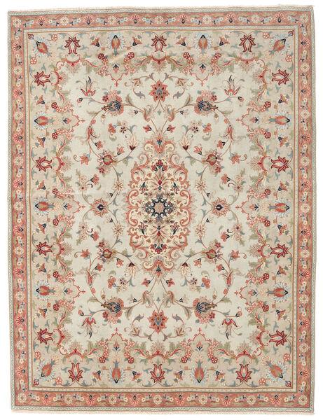 Yazd Patina Rug 191X251 Authentic  Oriental Handknotted Dark Beige/Light Brown (Wool, Persia/Iran)