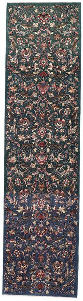 Mashad Patina Rug 99X386 Authentic  Oriental Handknotted Hallway Runner  Dark Grey/Black (Wool, Persia/Iran)