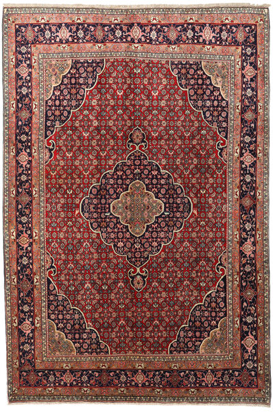 Bidjar Zanjan Rug 220X328 Authentic  Oriental Handknotted Dark Red/Dark Brown (Wool, Persia/Iran)