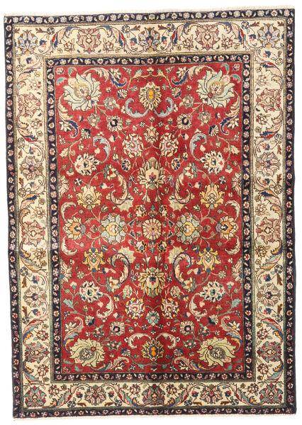 Tabriz Rug 137X192 Authentic  Oriental Handknotted Light Brown/Dark Red (Wool, Persia/Iran)
