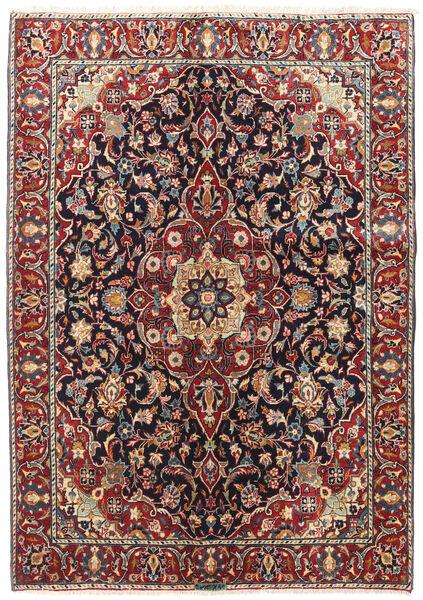 Mashad Rug 142X202 Authentic  Oriental Handknotted Dark Red/Black (Wool, Persia/Iran)