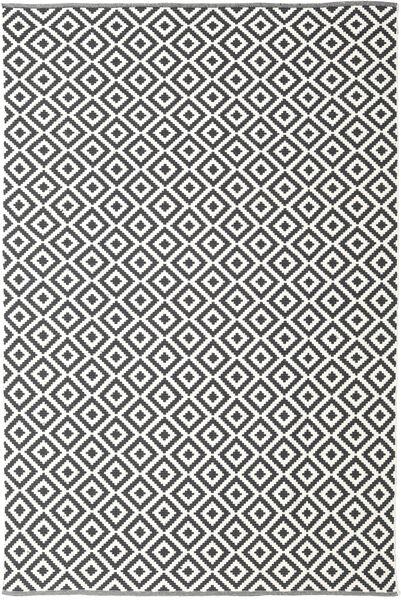 Torun - 黒/Neutral 絨毯 200X300 モダン 手織り 濃いグレー/ベージュ (綿, インド)