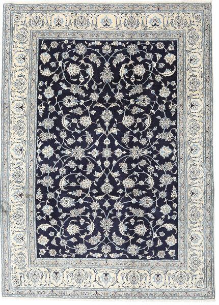 Naïn Tapis 245X340 D'orient Fait Main Gris Clair/Violet Foncé (Laine, Perse/Iran)
