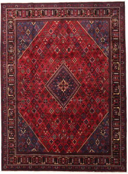 Joshaghan Covor 293X398 Orientale Lucrat Manual Roșu-Închis/Negru Mare (Lână, Persia/Iran)