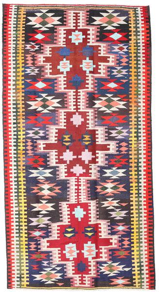 Kilim Fars Rug 190X360 Authentic  Oriental Handwoven Black/Light Pink (Wool, Persia/Iran)