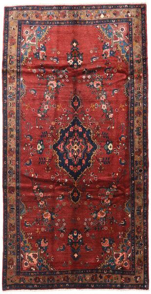 Hamadan Vloerkleed 165X300 Echt Oosters Handgeknoopt Tapijtloper Donkerrood/Donkerblauw (Wol, Perzië/Iran)