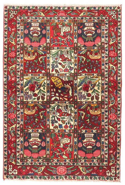 Bakhtiari Rug 102X150 Authentic  Oriental Handknotted Dark Red/Dark Brown (Wool, Persia/Iran)