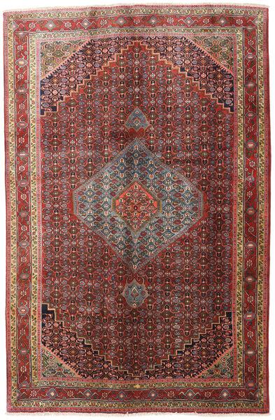 Zanjan Teppich  195X300 Echter Orientalischer Handgeknüpfter Dunkelrot/Dunkelbraun (Wolle, Persien/Iran)