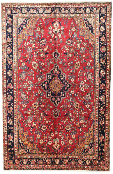 Mehraban Rug 200X314 Authentic  Oriental Handknotted Dark Red/Rust Red (Wool, Persia/Iran)