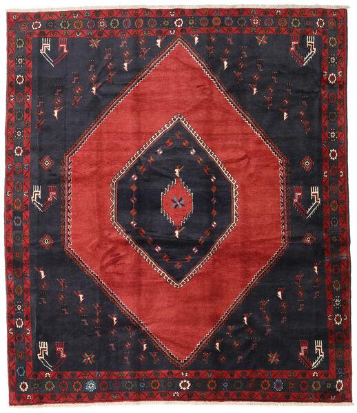 Klardasht Teppich  250X290 Echter Orientalischer Handgeknüpfter Schwartz/Dunkelrot Großer (Wolle, Persien/Iran)