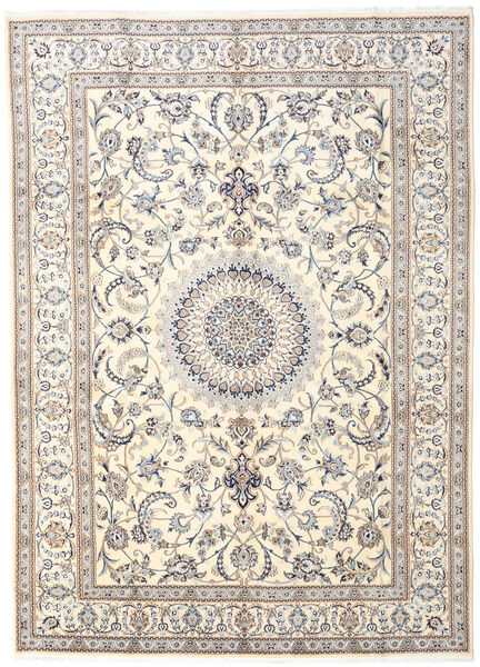 Nain Rug 282X390 Authentic  Oriental Handknotted Light Grey/Beige Large (Wool, Persia/Iran)