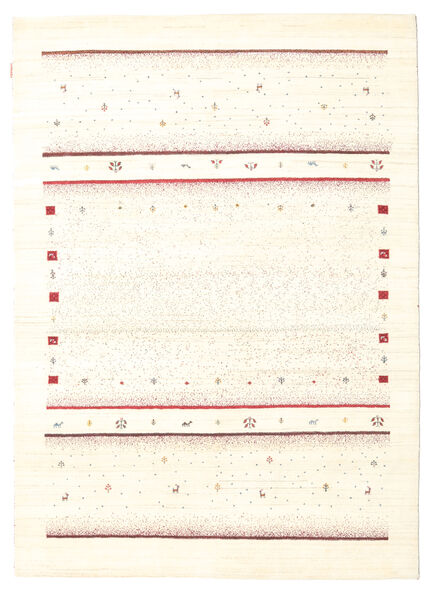 Gabbeh Loribaft Matto 165X230 Moderni Käsinsolmittu Beige (Villa, Intia)