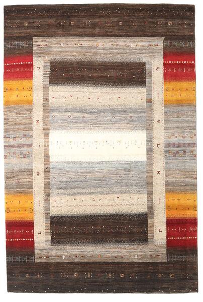 Gabbeh Loribaft Rug 196X307 Authentic  Modern Handknotted Light Grey/Dark Brown (Wool, India)