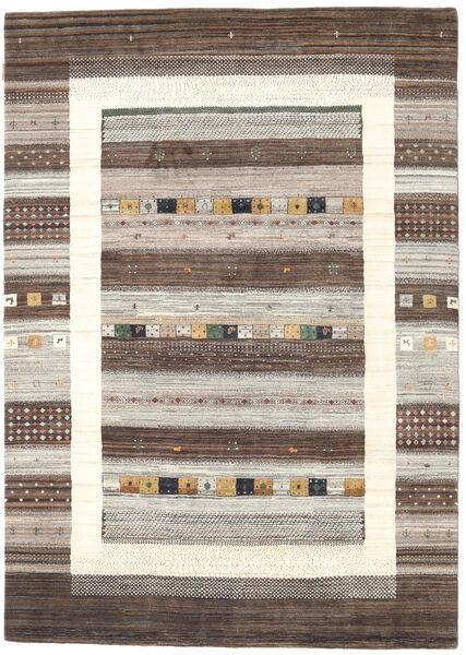 Gabbeh Loribaft Matto 169X238 Moderni Käsinsolmittu Vaaleanharmaa/Beige (Villa, Intia)