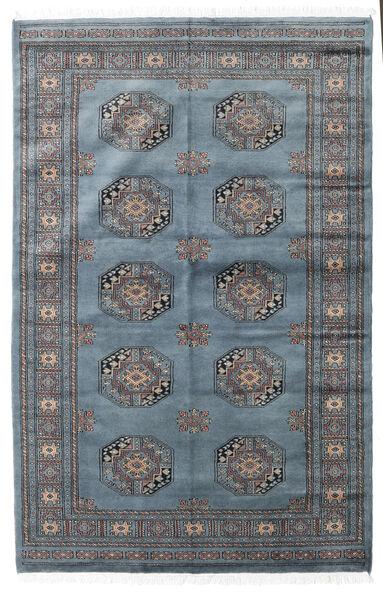 Pakistański Bucharski 3Ply Dywan 138X210 Orientalny Tkany Ręcznie Niebieski/Ciemnoszary (Wełna, Pakistan)