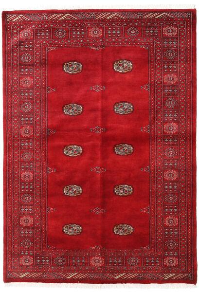 Pakistański Bucharski 3Ply Dywan 137X196 Orientalny Tkany Ręcznie Czerwony/Ciemnoczerwony (Wełna, Pakistan)