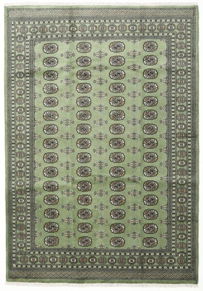 パキスタン ブハラ 2Ply 絨毯 199X284 オリエンタル 手織り 濃いグレー/オリーブ色 (ウール, パキスタン)