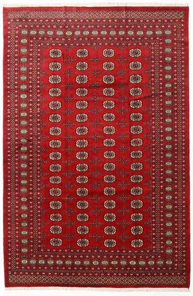 パキスタン ブハラ 2Ply 絨毯 202X305 オリエンタル 手織り 深紅色の/赤 (ウール, パキスタン)