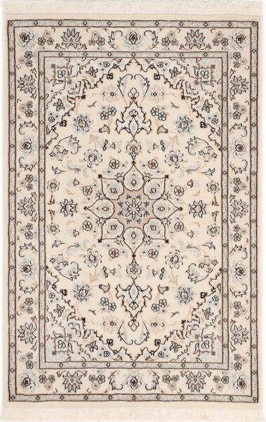 Nain 9La Sherkat Farsh Rug 81X122 Authentic  Oriental Handknotted Light Grey/Beige (Wool/Silk, Persia/Iran)