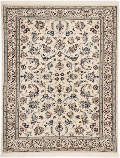 Nain 6La Rug 98X127 Authentic  Oriental Handknotted Light Grey/Beige (Wool/Silk, Persia/Iran)