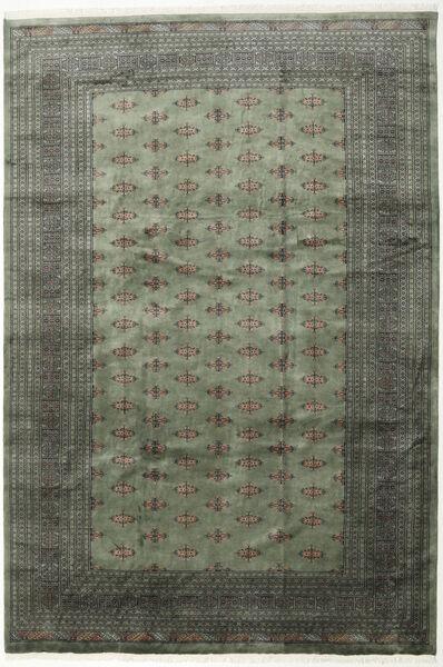 パキスタン ブハラ 3Ply 絨毯 243X358 オリエンタル 手織り 濃いグレー/薄い灰色 (ウール, パキスタン)