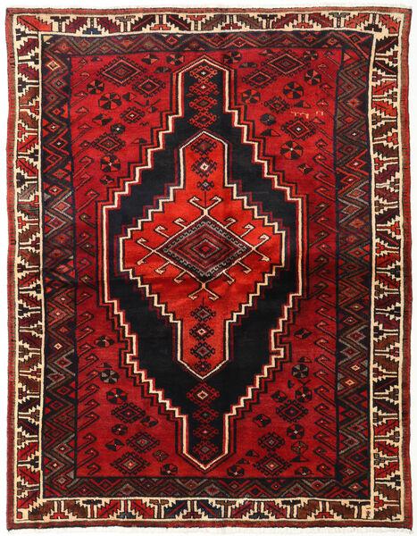 Lori Matta 167X215 Äkta Orientalisk Handknuten Svart/Mörkröd/Roströd (Ull, Persien/Iran)