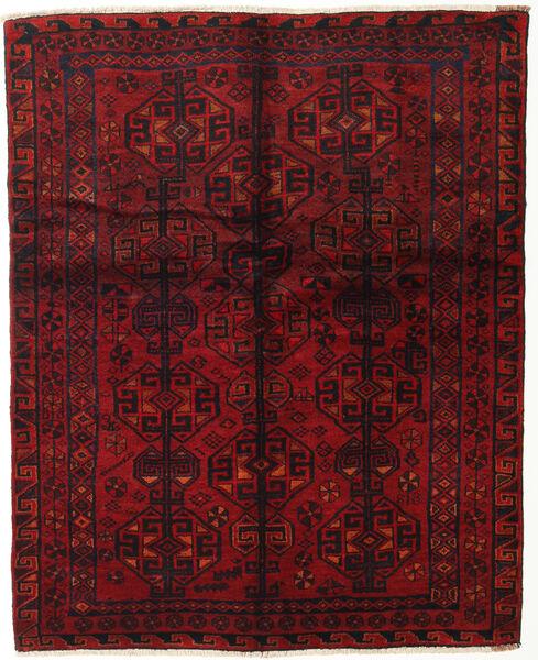 Lori Rug 155X190 Authentic  Oriental Handknotted Dark Red/Dark Brown (Wool, Persia/Iran)