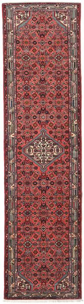 Asadabad Rug 74X285 Authentic  Oriental Handknotted Hallway Runner  Dark Red/Dark Grey (Wool, Persia/Iran)