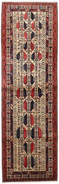 Afshar Teppich  93X299 Echter Orientalischer Handgeknüpfter Läufer Dunkelrot/Dunkelbraun (Wolle, Persien/Iran)